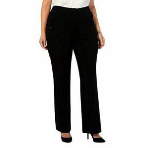 Alfani Plus 24W Black  Waist Trouser L2O2-08